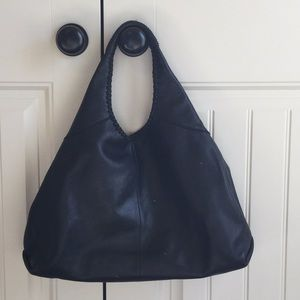 Banana Republic Black Leather Hobo Bag